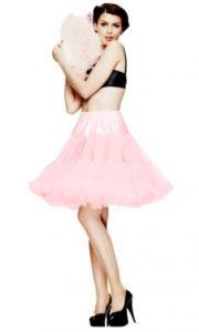 Rosa underkjol med tyll